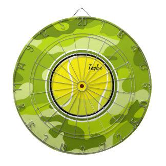 De Bal van het tennis; heldergroene camo, Dartbord