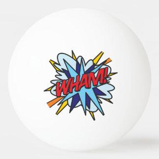 De bande dessinée de bruit d'art COUP VLAN Balle Tennis De Table