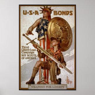 De Banden van de oorlog Poster