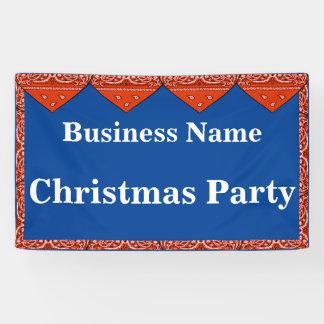 De Banner Rode Bandana van de Partij van Kerstmis