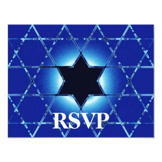 De Bar van Gimel van Magen/Knuppel Mitzvah RSVP Kaart