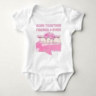 De bébé d'amis combinaison de triplets pour body