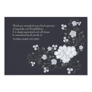 De Begrafenis van de inspiratie dankt u kaardt 8,9x12,7 Uitnodiging Kaart