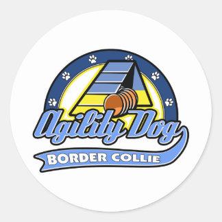 De Behendigheid van Border collie van het honkbal Stickers
