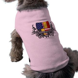 De belgisch-Amerikaanse Vlag van het Schild T-shirt