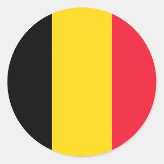 De Belgische sticker van de Vlag