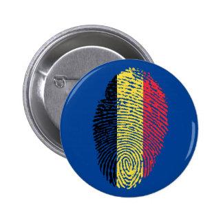 De Belgische vlag van de aanrakingsvingerafdruk Ronde Button 5,7 Cm