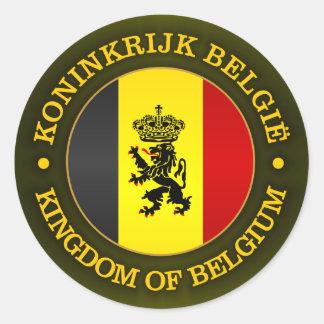 De Belgische Vlag van de Staat Ronde Sticker