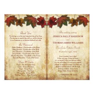 De bi-Vouwen van het Huwelijk van de Bladeren van Flyer 21,6 X 27,9 Cm