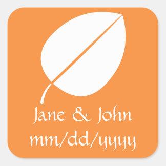 De Bladeren van de herfst in Oranje Sticker