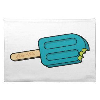 De blauwe Ijslolly van de Framboos bijt me Placemat
