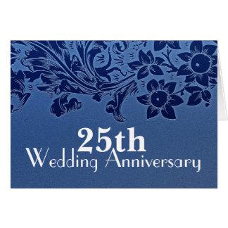 de blauwe kaart van de 25ste huwelijksverjaardag