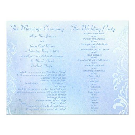 De blauwe programma's van het Huwelijk Grunge Fullcolor Folder