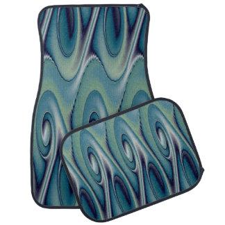 De blauwe Reeks van het Ontwerp van het Element Auto Vloermat