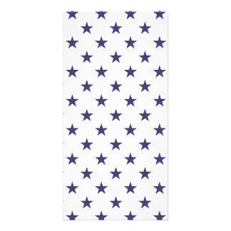 De Blauwe Sterren van de Vlag van de V.S. op Wit Fotokaart
