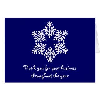 De blauwe & Witte Zaken danken u nota nemen van Briefkaarten 0