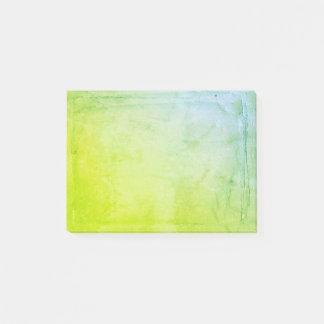 De blauwgroene Bladen van de Waterverf Post-it® Notes