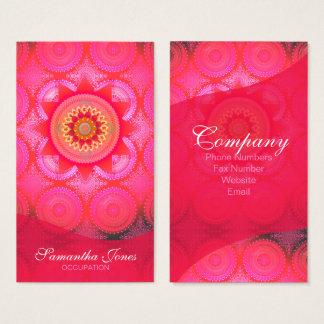 De Bloei Roze Mandala ID130 van Lotus Visitekaartjes