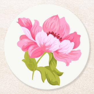 De bloemen Roze Partij van het Huwelijk van de Ronde Onderzetter
