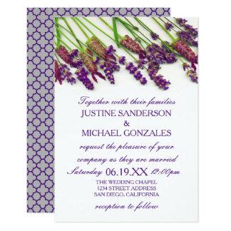 De Bloemen van de lavendel - 3X5 de Uitnodiging