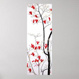 De Boom Vintage Kobayashi Kokei van de magnolia Poster