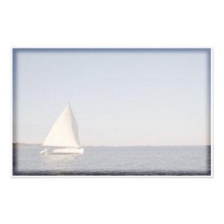 De Boot van het zeil Briefpapier