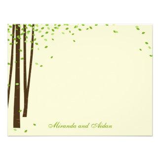 De bos Bomen danken u de Groene kaarten van Kaarte Custom Uitnodging