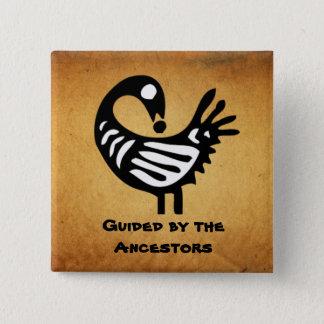 ~ de bouton guidé par les ancêtres badge carré 5 cm