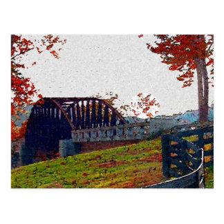 De Brug van de herfst Briefkaart