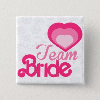 De BRUID van het TEAM, huwelijk Vierkante Button 5,1 Cm