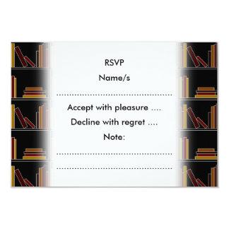 De bruine, Boeken van de Kleur van Bourgondië en 8,9x12,7 Uitnodiging Kaart