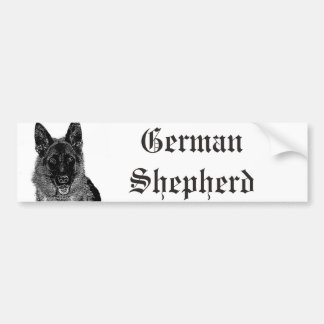 De bumpersticker van de Duitse herder