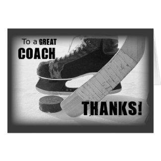 De Bus van het Hockey van het bedankt Kaart