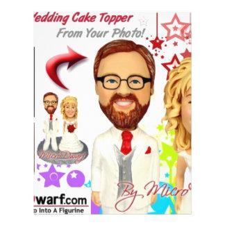 de Cake Toppers van het Huwelijk van MicroDwarf.co Gepersonaliseerde Folder