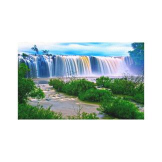 De caleidoscoop van de waterval canvas afdrukken