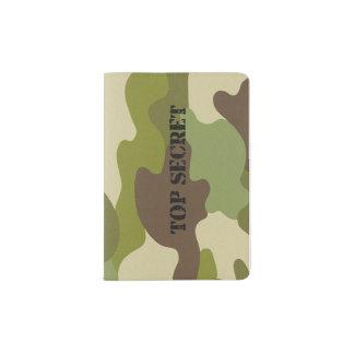de camouflagebovenkant van de paspoorthouder - paspoort houder
