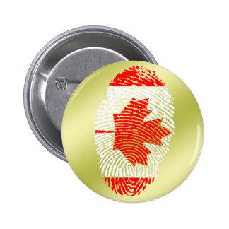 De Canadese vlag van de aanrakingsvingerafdruk Ronde Button 5,7 Cm