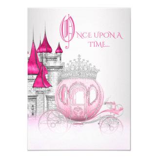 De Cendrillon princesse Birthday il était une fois Carton D'invitation 11,43 Cm X 15,87 Cm