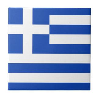 De ceramiektegel van de Vlag van Griekenland Tegeltje