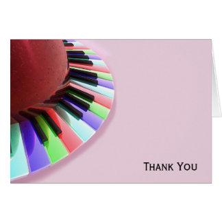 De Chaos van het toetsenbord Helder op Roze Briefkaarten 0