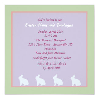 De charmante Uitnodiging van Pasen van Konijntjes
