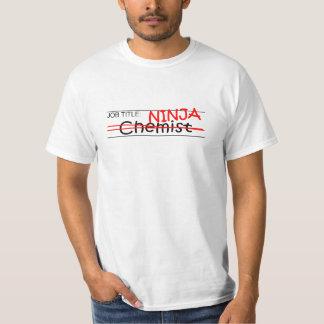 De Chemicus van Ninja van de Titel van de baan T Shirt