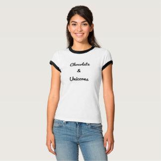 De Chocolade & de Eenhoorns van de t-shirt
