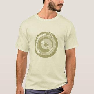 de cirkel gouden t-shirt van het pigewas