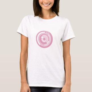 de cirkel roze t-shirt van het pigewas
