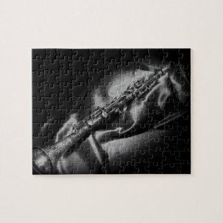 De clarinette toujours la vie antique, B&W Puzzle