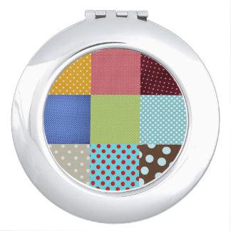 De Compacte Spiegel van het lapwerk Makeup Spiegel