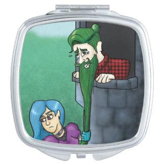 De Compacte Spiegel van Manbunzel Make-up Spiegeltje