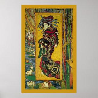 DE Courtisane door Vincent van Gogh Poster