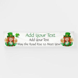 De Dag van heilige Patrick of Iers BedrijfsDecor Spandoek